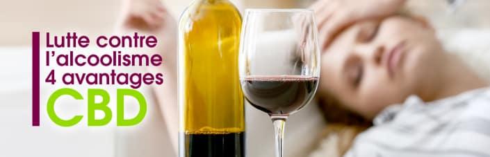 lutte contre alcoolisme : 4 avantages du cbd